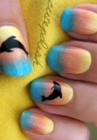 Dolphin Nail Art, i tried it and loved it! big thumbs upp!  ;)