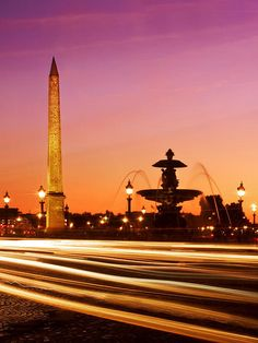 Place de la Concorde at Night / Paris - France