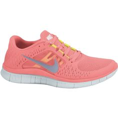 Nike Running shoe Women Free Run +3 pink SU12 ($87) ❤ liked on Polyvore featuring shoes, athletic shoes, sneakers, nike, nike shoes, lightweight shoes, light weight shoes and nike footwear