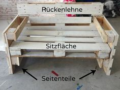 Möbel aus Paletten bauen – Anleitung Building furniture from pallets – nothing easier than there. Here you will find the instructions for furniture made of europallets. ≥ Terrace made of pallets s♥ Garden furniture made of palletDIY outdoor furniture Diy Outdoor Furniture, Pallet Furniture, Furniture Projects, Garden Furniture, Furniture Design, Building Furniture, Furniture Making, Diy Pallet Projects, Pallet Ideas