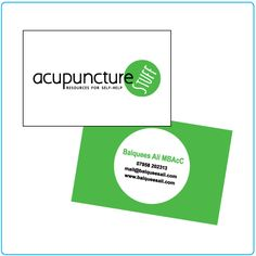 acupuncture stuff – business card design – graphic design – Designed by Tree