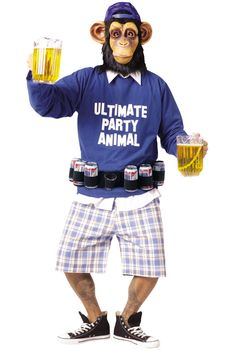 Ultimate Party Animal Adult Costume #halloween #costumes $41.95