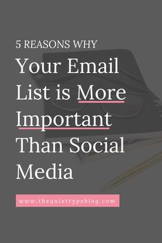 Have you been putting off starting an email list or neglecting the one you have? Here's why an email list should be a priority in your online business. E-mail Marketing, Email Marketing Design, Email Marketing Campaign, Email Marketing Strategy, Email Design, Business Marketing, Online Marketing, Social Media Marketing, Online Business