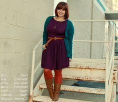 purple jersey dress