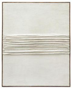 Achrome, 1959 Piero Manzoni  Kaolin and folded canvas 82.5 x 67 cm / 32 1/2 x 26 3/8 in