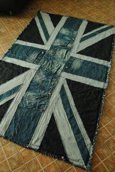 Recycled union jack blanket