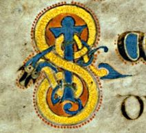 Book of Kells - initial letter S