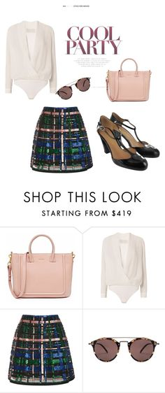 """""""Cool party"""" by shoebedo on Polyvore featuring moda, Michelle Mason, Elie Saab i Oliver Peoples"""