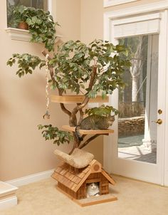I'd love one of these for my cats!  http://www.popkitten.com/tree-houses-for-cats/#    @Sierra Letts