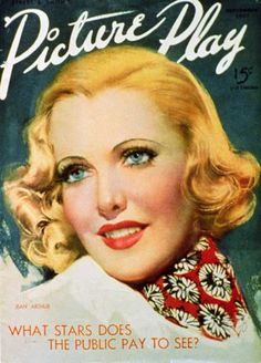 Jean Arthur - Picture-Play Magazine Cover