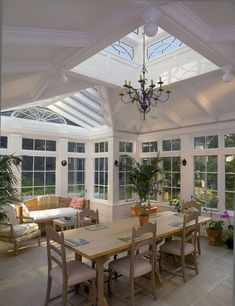 Conservatory Windows With Beautiful Colored Paint 11 – DECOREDO #conservatorygreenhouse