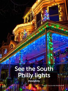 Philly Bucket List Tip: See the South Philly lights. Philly Style, Visit Philly, South Philly, The 'burbs, Brotherly Love, Philadelphia Pa, Holiday Lights, Us Travel, Places To See