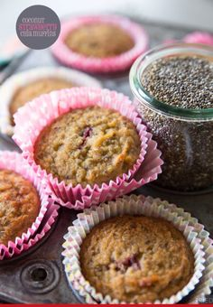 Coconut Strawberry Chia Seed Muffins! #Food #Drink #Trusper #Tip