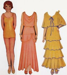 Did you have paper dolls as a kid? These Clara Bow paper dolls helped her flapper fashion catch on.