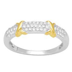 10k Gold 1/4ct TDW Diamond Fashion Ring