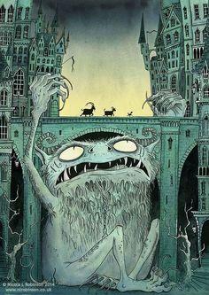 The Three Billy Goats Gruff, troll under the bridge, fairy tales