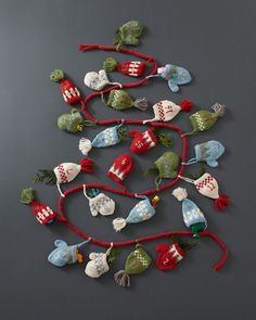 Hats and Mittens Advent Calendar -would love to do this as an advent calendar - maybe I could make myself with baby mittens and booties (rather than pay $100)