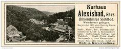 Original-Werbung/Inserat/ Anzeige 1906 - KURHAUS ALEXISBAD HARZ - ca. 115 X 45 mm