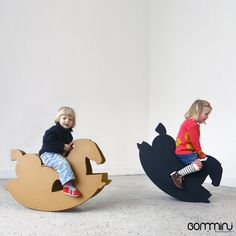 Cardboard Toys, Cardboard Furniture, Kids Furniture, Kids Amusement Parks, Origami Furniture, Wood Rocking Horse, Natural Wood Decor, Kids Cafe, Baby Rocker