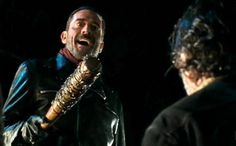 The Walking Dead Season 6 Episode 16 'Last Day On Earth' Rick Grimes and Negan