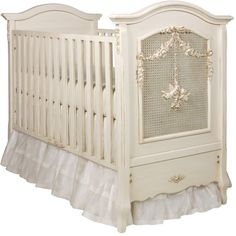 Cherubini Crib in Provence by AFK Art For Kids ($3,025) ❤ liked on Polyvore featuring baby
