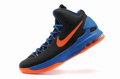 online retailer d4e46 f7f55 High quality Nike Zoom KD V 5 Dark Blue Orange Men s Basketball Shoes 554988  046