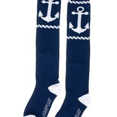 """""""Rope Anchor"""" Socks by Sourpuss Clothing (Blue)"""