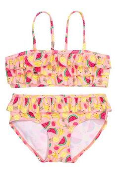 Bikini with frills