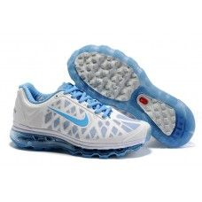 sale retailer 77c55 a7f4b Femme Nike Air Max 2011 Netty Blanc Bleu