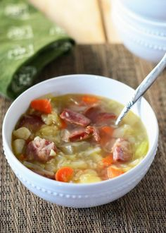 Delicious kielbasa cabbage soup.