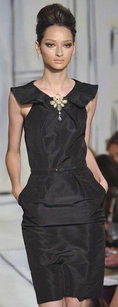 Oscar de la Renta ~ Spring Sleeveless Dress, Black