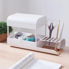 Desktop Storage, Desktop Organization, Life Organization, Organizing, Modern Desk Accessories, Office Table Design, Best Sheets, Cosmetic Design, Home Desk