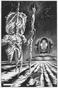 Enrique Alcatena (born 26 February is an Argentine comic book artist. He is known as Quique Alcatena in his native country and Latin America. Comic Book Artists, Comic Artist, Comic Books, Fantasy Kunst, Fantasy Art, Science Fiction Kunst, Magical Images, Comic Kunst, Black White Art