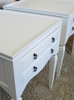 End table makeover - before and after pix. Lots of other furniture makeovers here too