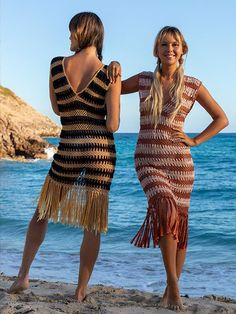 Hand Crochet, Hand Knitting, Bare Foot Sandals, Resort Wear, Kaftan, Beachwear, Bathing Suits, Bikinis, Swimwear