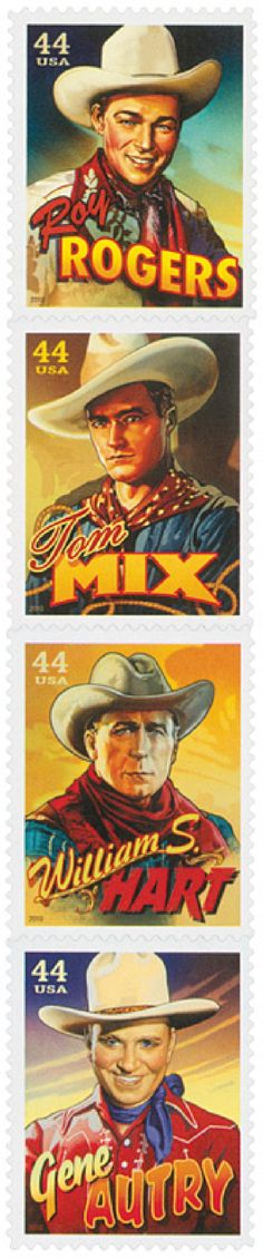 2010 44c Cowboys of the Silver Screen for sale at Mystic Stamp Company