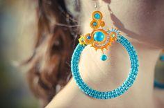 Arcadia earrings by Sytasz-Anka Model: Ewa Urbańczyk, Photo: Natalia i Albert Łukasiak www.soutage.com