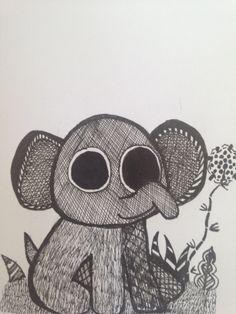 Baby elephant cartoon. Baby Elephant, Elephants, To My Daughter, Art Pieces, Cartoon, Engineer Cartoon, Elephant Baby, Cartoons, Artworks
