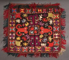 Laqai Uzbek embroidered cover or hanging, Central Asia, circa 1930 I need to known the size and the price these fabric I hope for news you  thanks