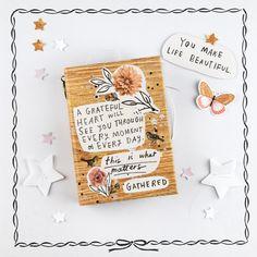 Gratitude Mini Album – Crate Paper & Maggie Holmes Crate Paper, Studio Calico, Scrapbook Paper Crafts, Scrapbooking, Scrapbook Albums, Scrapbook Layouts, Paper Bookmarks, Paper Magic, Book Journal
