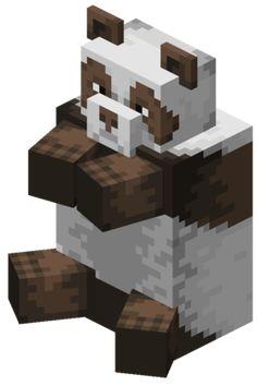 Minecraft Statues, Minecraft Mobs, Minecraft Ideas, Minecraft Drawings, Minecraft Pictures, Panda Drawing, Mountain Goats, Minecraft Wallpaper, Minecraft Creations
