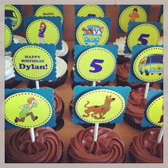 Scooby Doo cupcake toppers