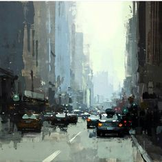 Art by @redrabbit7 #oilpainting #oil #cityscapes #artist #newyork #losangeles