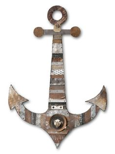 Nautical finery will set sail in every incarnation this spring and summer, from seafaring stripes to anchor objets trouve and whale statuary. We love Dolan Gaiman's one-of-a-kind mixed media series such as Blackbeard's Anchor in salvaged wood and found objects. (Artwork by Dolan Geiman; photo by David Ettinger