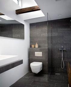 Bathroom Tiles Grey Slate porcelanosa's black slate wall tiles for stylish bathroom / wall