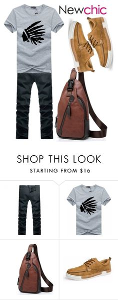 """""""NewChic for Men XV"""" by egordon2 ❤ liked on Polyvore featuring men's fashion and menswear"""