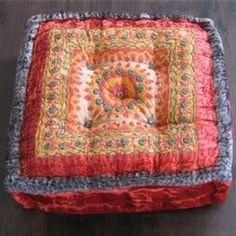 Meditation Pillow Square Floor Cushion Red | Shop home | Kaboodle