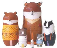 Fantastic Mr. Fox Nesting Doll Set