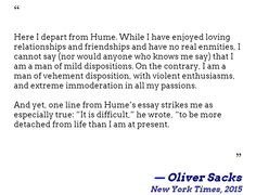 opinion oliver sacks on learning he has terminal cancer.