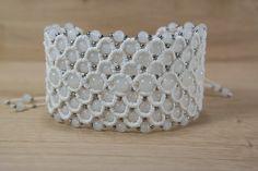 Micro macrame bracelet Valentine's day gift by LumiLightAngelArt